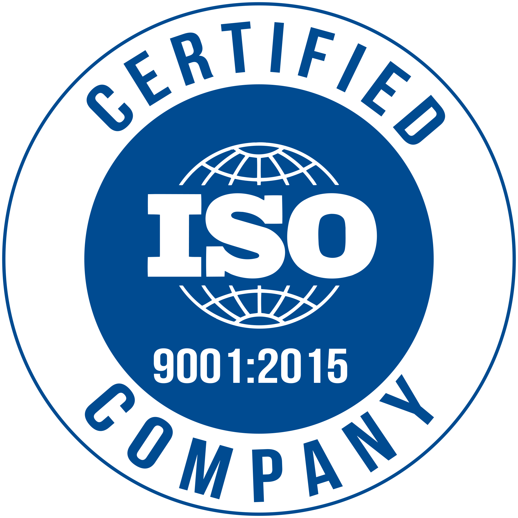 We are an ISO 9001:2015