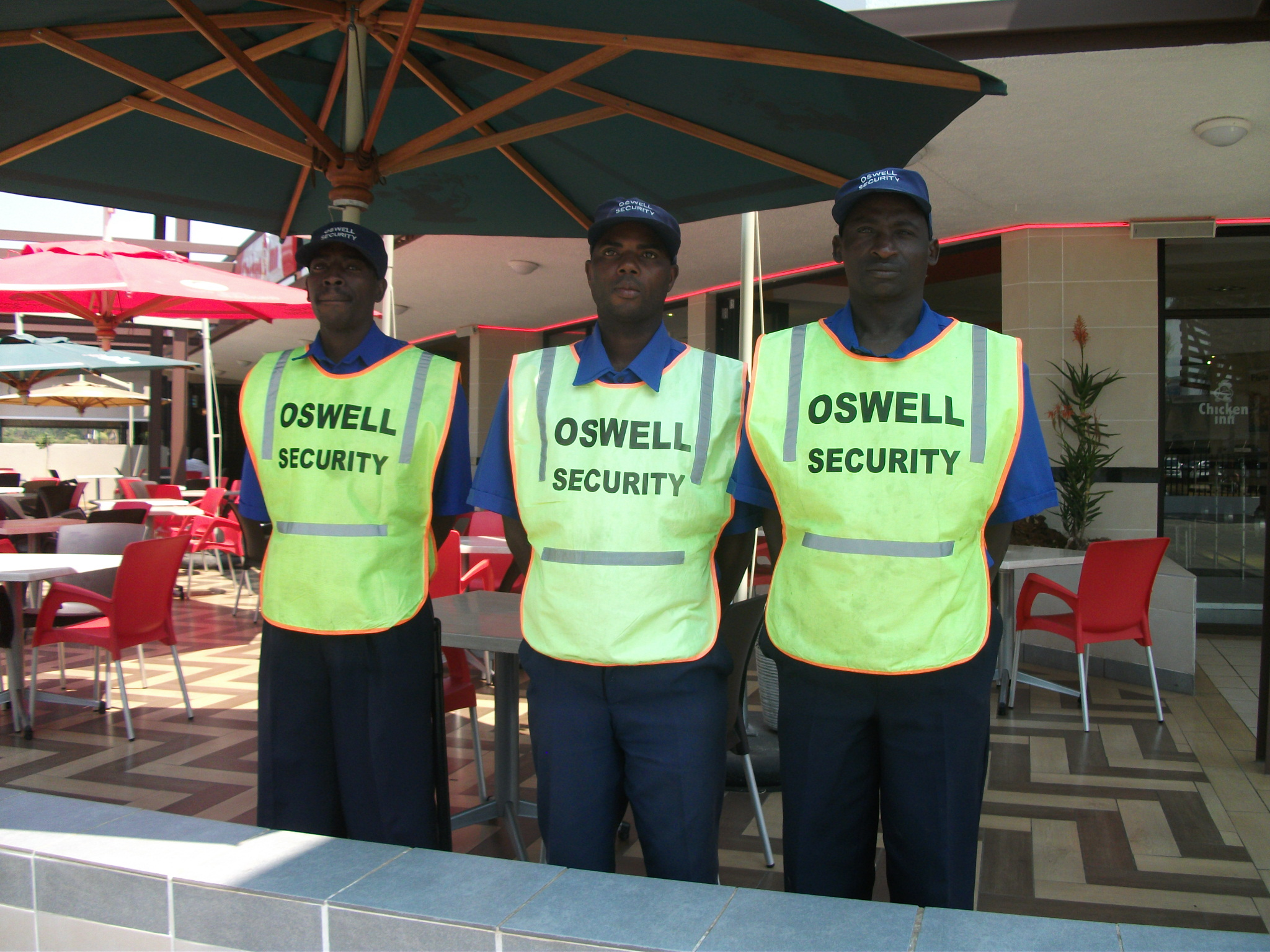 Oswell Security officers on duty